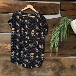 Floral and flowy floral print shirt